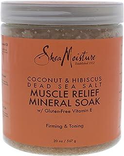 Shea Moisture Coconut and Hibiscus Dead Sea Salt Muscle Relief Mineral Soak, 567g