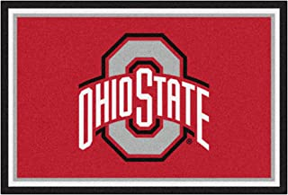 FANMATS NCAA Ohio State University Buckeyes Nylon Face 5X8 Plush Rug