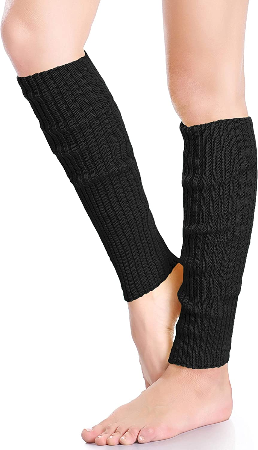 daisysboutique Retro Unisex Adult Junior Ribbed Knitted Leg Warmers