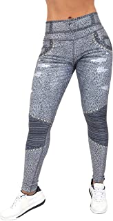 Fitness People FP LegJeans Jeggings Woman Activewear Compression Pants Yoga Tights Gray