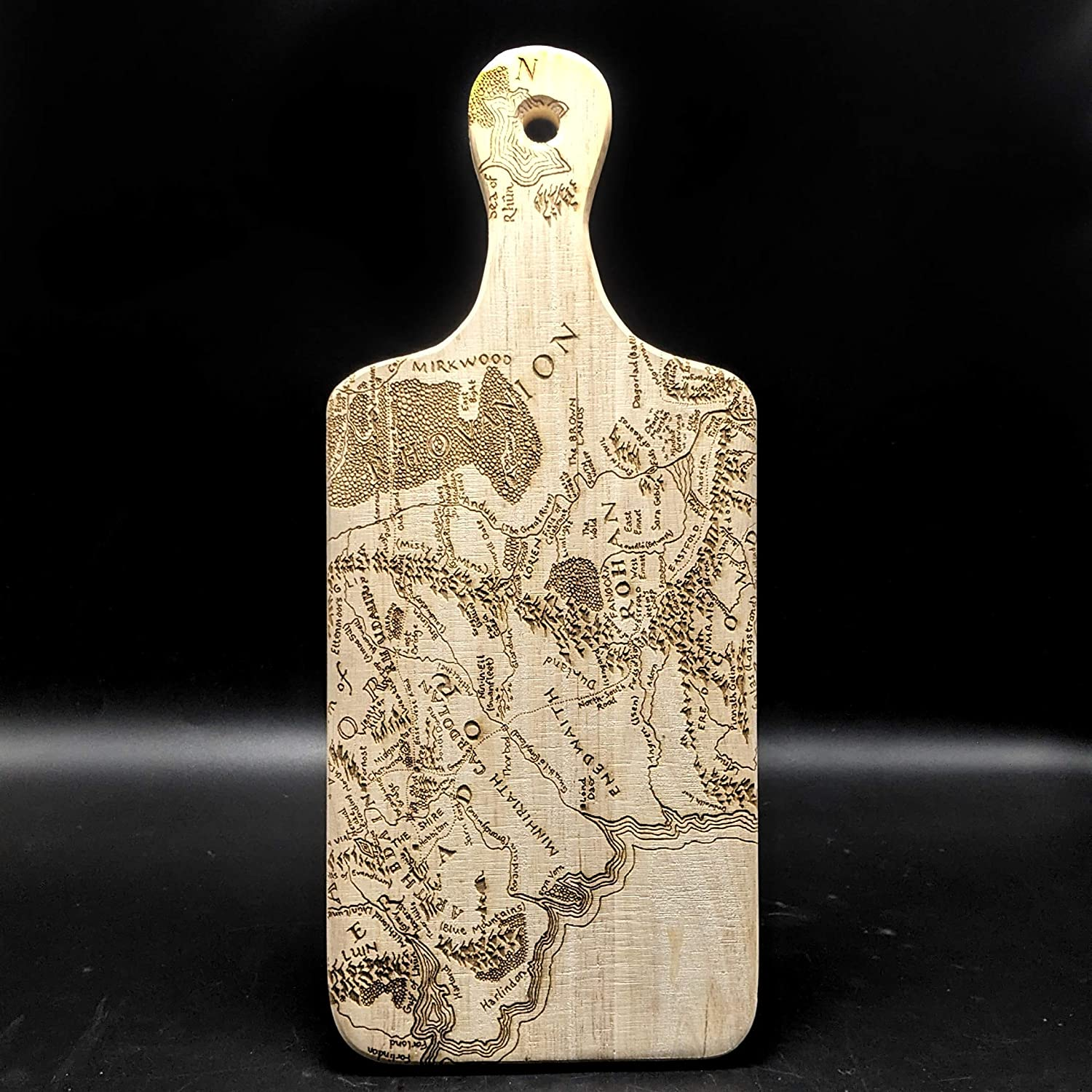 MAP OF MIDDLE EARTH Tulsa Mall Quantity limited Engraved Cutting of by Inspired Lord Board