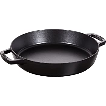 STAUB Cast Iron Double Handle Fry Pan, 13-inch, Black Matte