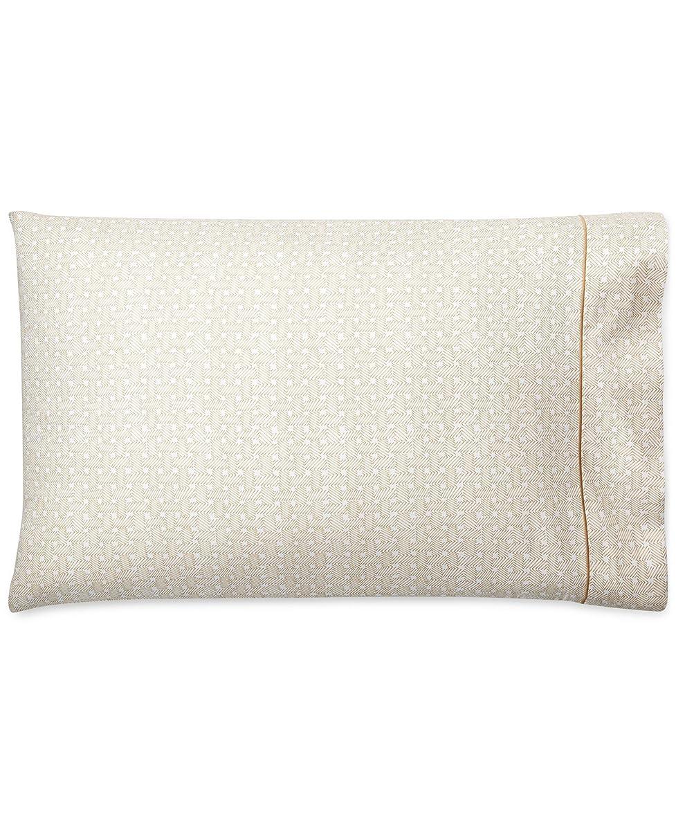 Ralph Lauren Standard Pillowcases Spencer Basket Weave Sateen Wheat 100% Cotton 2 Pk.