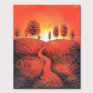 HUIJIE Peinte À La Main Peintures À l'huile,Peinture À L'Huile Peinte À La Main Peintures Abstraites Paysage Jusqu'À Under...