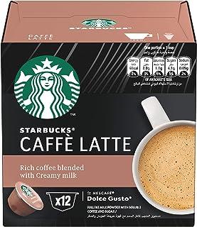 Nescafe Dolce Gusto Starbucks Caffe Latte Coffee Pods, Box of 12, 121.2 gm