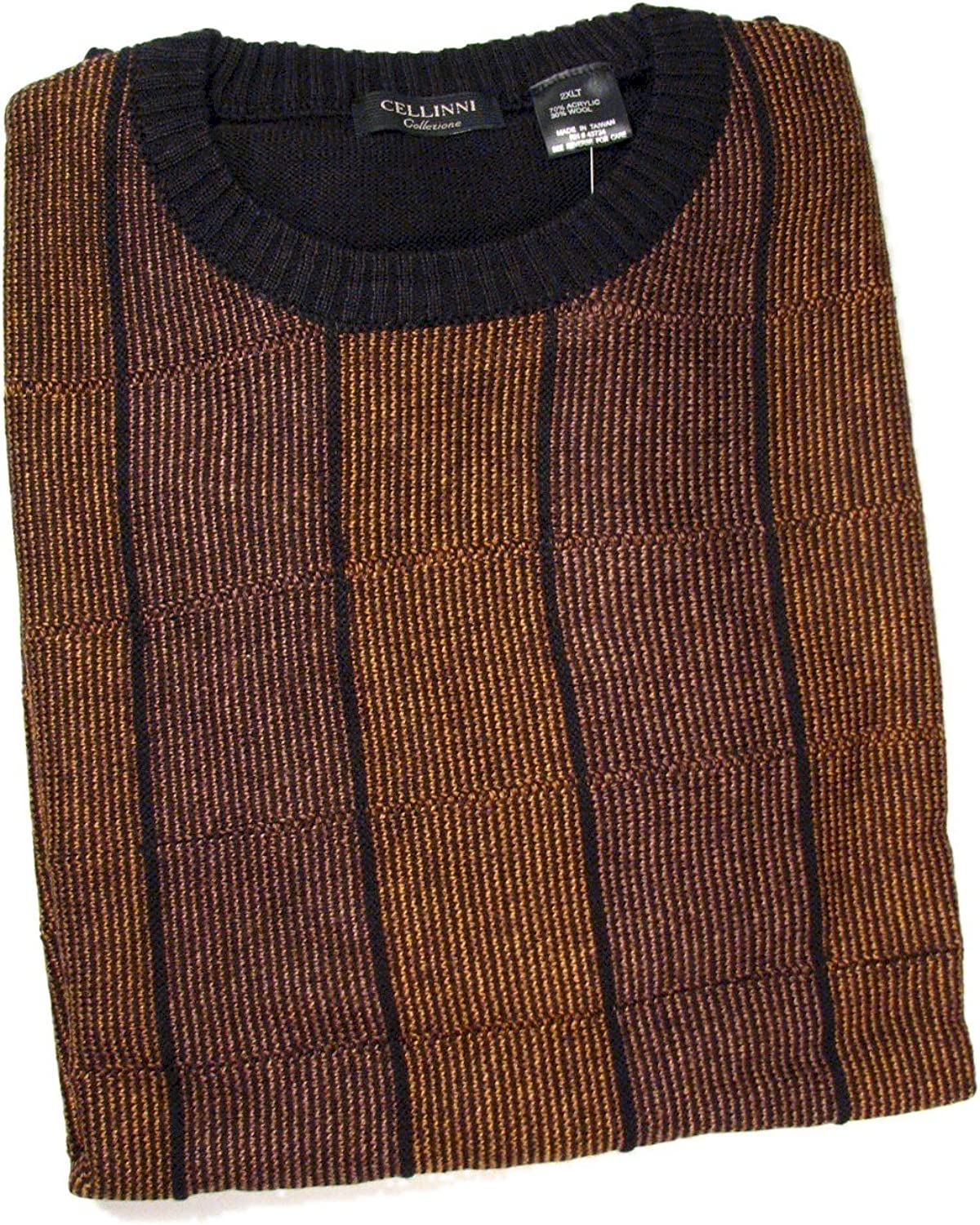 Cellini Big and Tall 5800-805 Crew Boxes Sweater Bronze