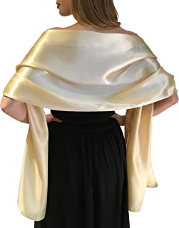 Satin Braut -Verpackungs-Stola -Schal Pashmina Schal Hochzeiten Brides Brautjungfern in Elfenbein Weiß Schwarz Blau Silber Gold Rosa Grau Grün