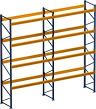 Palletrek rek voor zware lasten 4.80 m x 4.00 m (l x h) - 2 veld/er vaklast 1850 kg met 25 zetplaatsen
