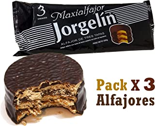 Alfajor Jorgelin (Chocolate Relleno con Dulce de Leche, 255 gr.) 3un each
