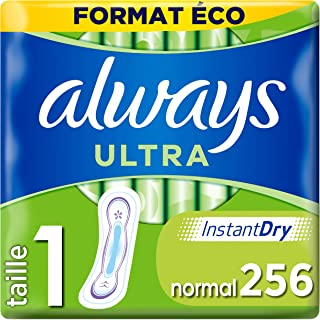 Always Ultra - Serviettes hygiéniques, Normal, Format éco x256