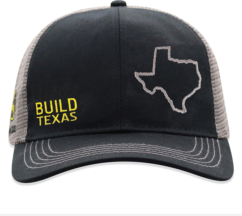 John Deere Build State Pride Cap-Black and Gray-Texas