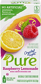 Sponsored Ad - Crystal Light Pure Raspberry Lemonade Drink Mix (84 On-the-Go Packets, 12 Packs of 7)