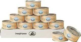 OceanPrincess 高級 ツナ缶 [90g×12缶セット] 気仙沼産 びん長まぐろ 綿実油使用 ツナフレーク / ご自宅用 備蓄用食品 オーシャンプリンセス モンマルシェ 油切り不要