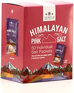 Best The Spice Lab Himalayan Pink Salt - Fine - 50 Salt Packets- Gourmet Pure Crystal - Pink Himalayan Salt is Nutrient and Mineral Dense for Health - Kosher & Natural Certified Review