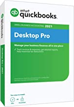 QuickBooks Desktop Pro 2021 Accounting Software for Small Business with Shortcut Guide [PC Disc]