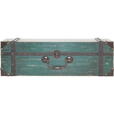 "MCS Vintage Suitcase Wall Shelf in Deep Aqua Finish, 18"", 18 Inch"