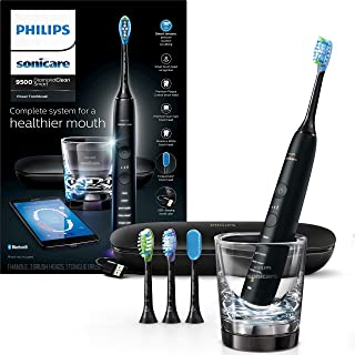 Philips Sonicare DiamondClean Smart 9500 Rechargeable Electric Toothbrush, Black HX9924/11