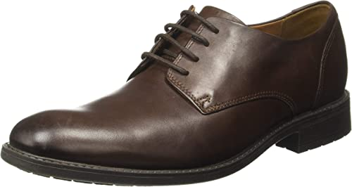 Clarks Truxton Plain leather Herren Men Schnürhalbschuhe Leder dunkel braun