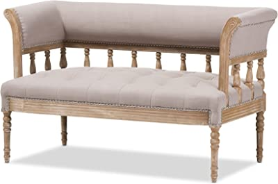 Amazon.com: Zentique Leon Jute Back Sofa: Kitchen & Dining