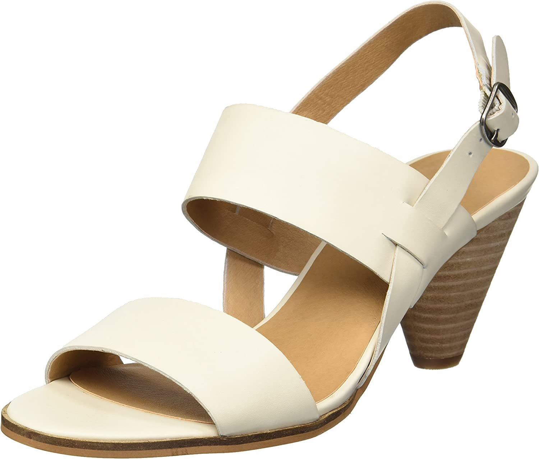 Lucky Brand Women's Veneesha Leather Open Toe Dress Stacked Heel Sandal