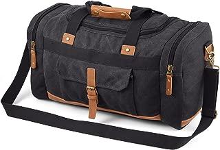 Plambag Canvas Luggage Duffel Bag Travel Tote Shoulder Bag(Dark Grey)