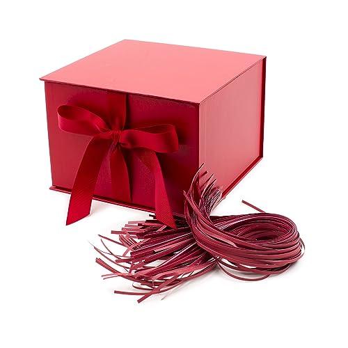 Red Glitter Gift Tags Ribbon Cord Pk 5 Birthday Christmas Wedding