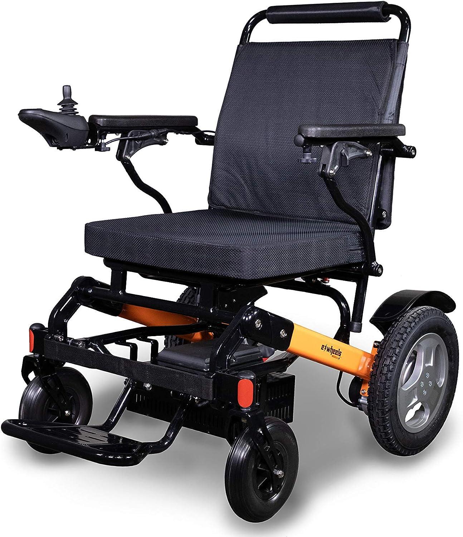 EWheels Folding Power Electric Wheelchair Limited price High quality with Bag EW-M4 Storage