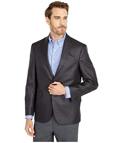 Kenneth Cole Reaction Techni-Cole Stretch Suit Separate Blazer (Gunmetal Basket Weave) Men