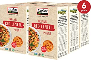Sponsored Ad - Explore Cuisine Organic Red Lentil Penne (6 Pack) - 8 oz - High Protein, Gluten Free Pasta, Easy to Make - ...