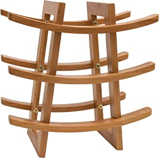 Lipper International 8306 Bamboo Wood 9-Bottle Wine Rack, 12-5/8