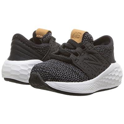 New Balance Kids KVCRZv2I Knit (Infant/Toddler) (Black/Magnet) Boys Shoes