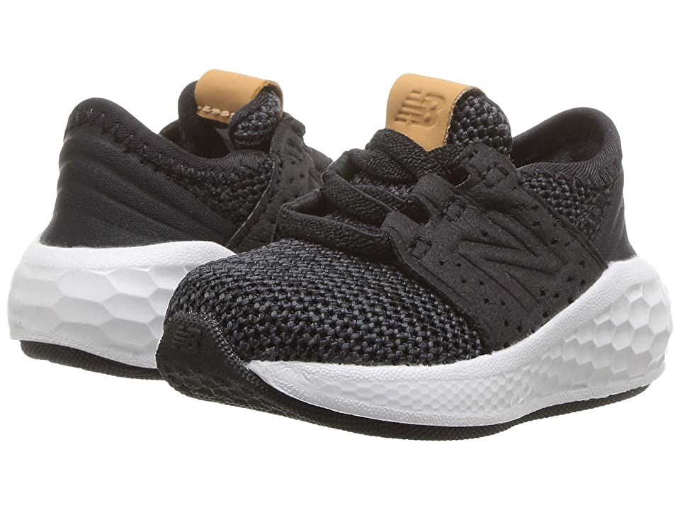 New Balance Kids KVCRZv2I Knit (Infant/Toddler) (Black/Magnet) Boys Shoes