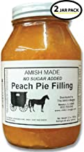 Amish Pie Filling No Sugar Added Peach- TWO 32 Oz Jars