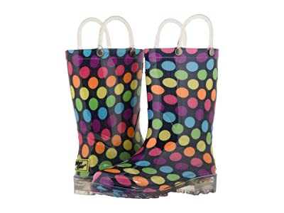 Western Chief Kids Lighted Rain Boots (Toddler/Little Kid) (Darling Dot) Girls Shoes