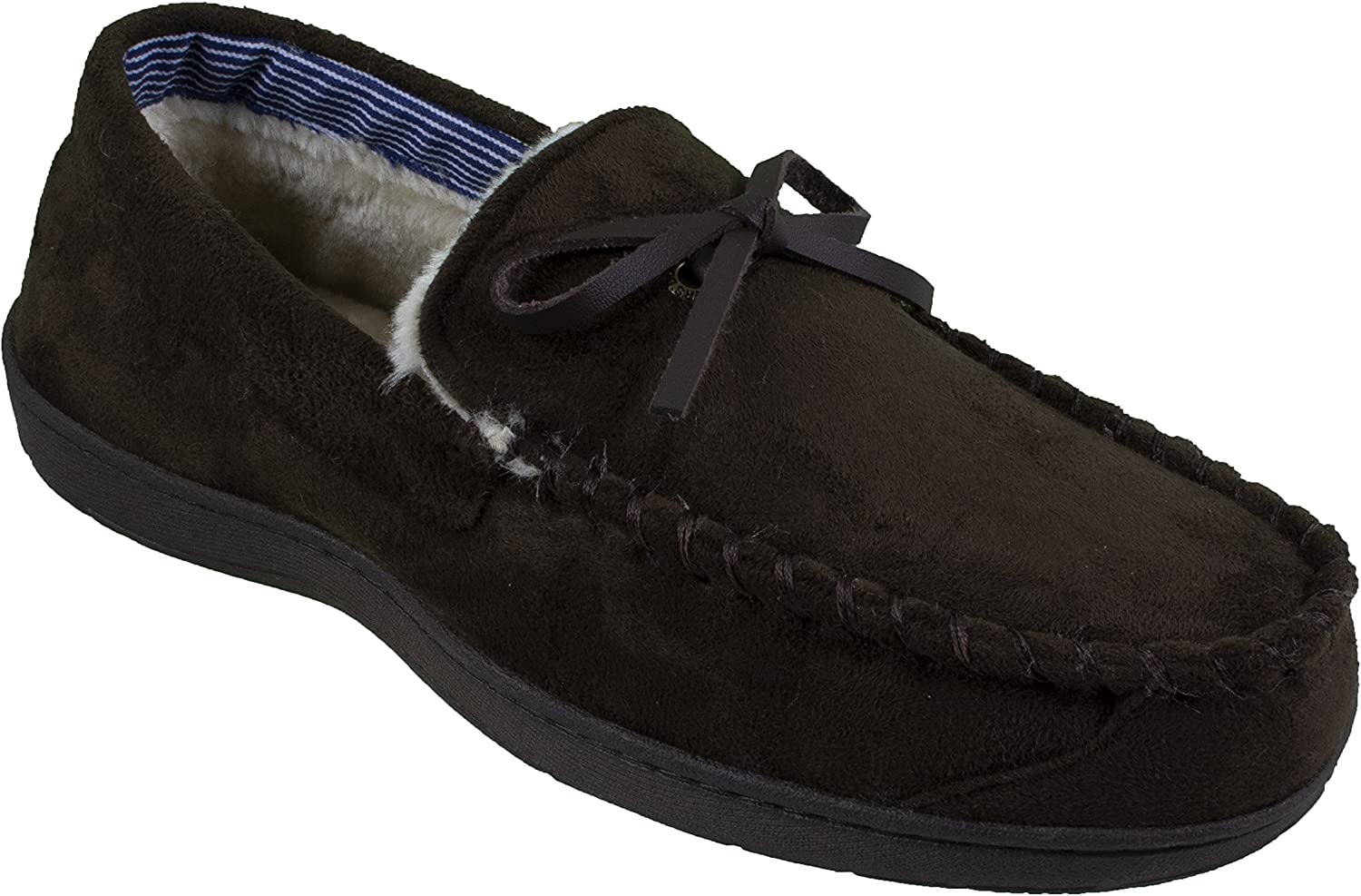 Dockers Men's Moccasin Slippers (X-Large   11-12 D(M) US, Classic braun)
