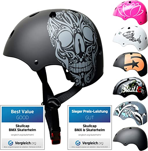 Skullcap® BMX & Skaterhelm - Fahrradhelm - Herren Damen Jungs & Kinderhelm