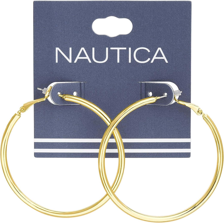 Nautica 50mm Hoop Earrings for Women