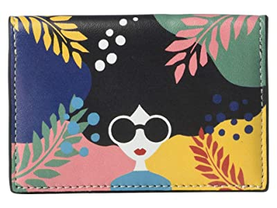Alice + Olivia Lexi Printed Envelope Card Case (Fantasy Stace Face) Handbags