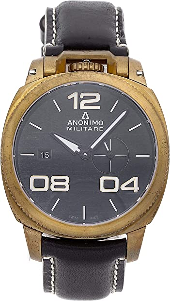 Anonimo militare orologio uomo analogico automatico con cinturino in pelle di vitello am102004001a01