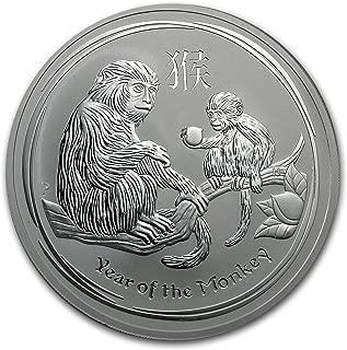 2016 AU Australia 10 oz Silver Lunar Monkey BU Silver Brilliant Uncirculated