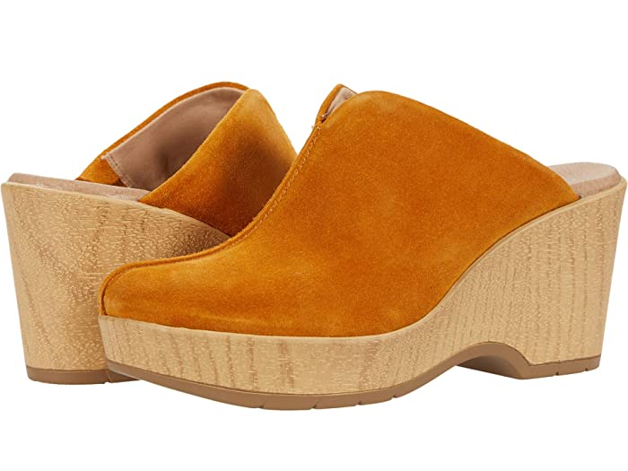 70s Outfits – 70s Style Ideas for Women Dr. Scholls Poppy GoldYellow Womens Shoes $119.99 AT vintagedancer.com