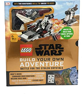 LEGO Star Wars Battle for The Stolen Crystals Build Your own Adventure ( 2 Minifigures and Brick Set) 180 pcs