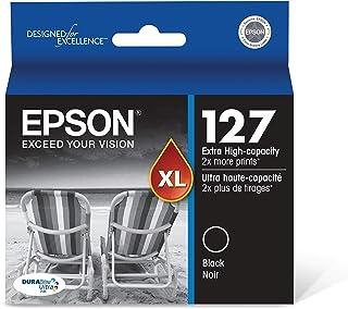 Epson T127120 Stylus NX530 625 WorkForce 545 60 630 633 635 645 840 845 WF-3520 3530 3540 7010 7510 7520 Ink Cartridge (Bl...