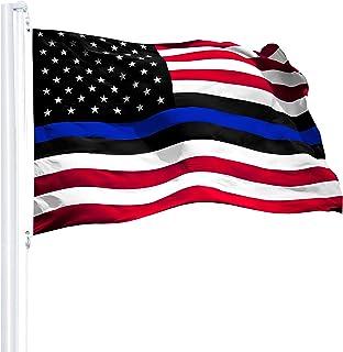 Best G128 Blue Lives Matter Flag Police Flag Embroidered (3x5 FT Spun Polyester) Review