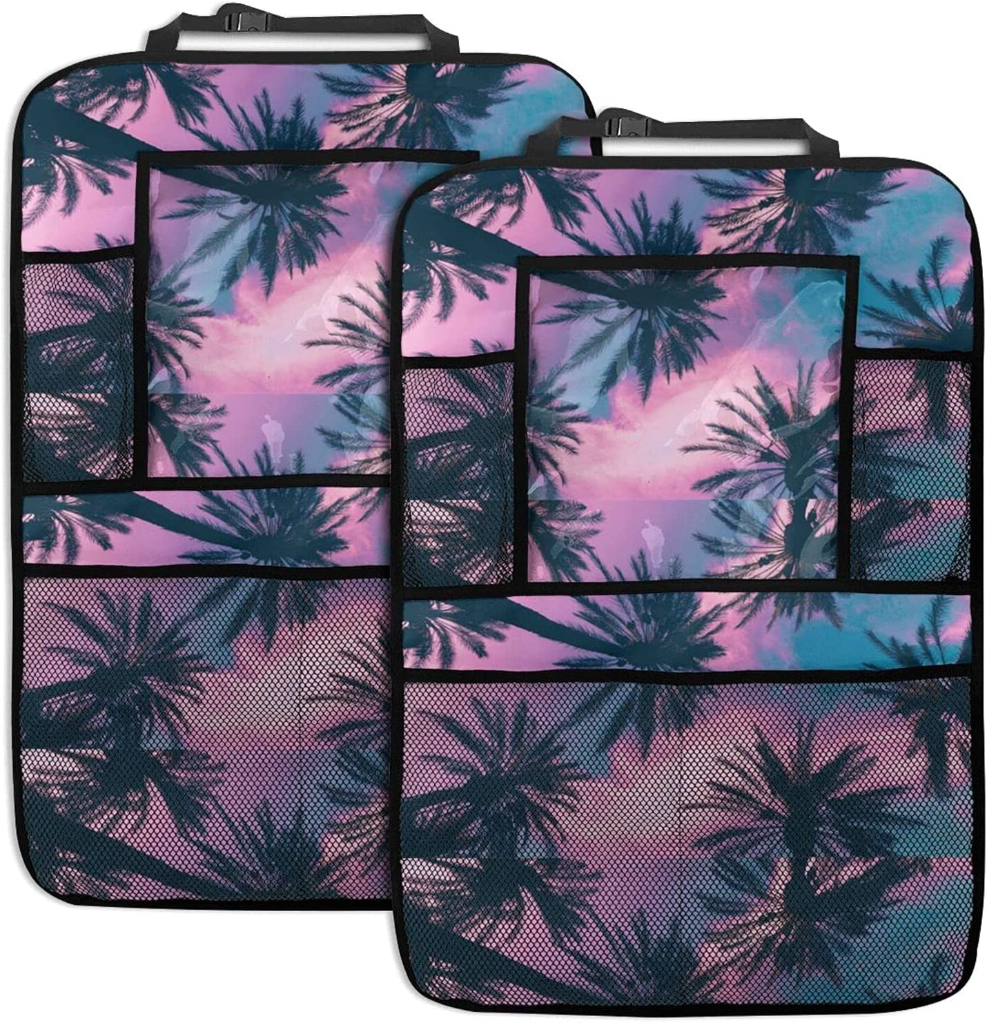 Palm Tree Pink Clouds Car Back Seat Function Multi Boston Industry No. 1 Mall Organizer
