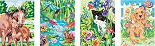 Dimensions Animal Friends Pencil Color by Number Kit, 9'' W x 12'' L