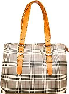 Khadim's Beige Synthetic Print Casual Handbag for Women
