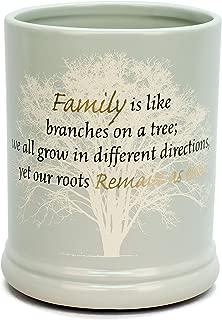 Elanze Designs Family Tree Ceramic Stoneware Electric Large Jar Candle Warmer