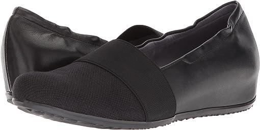 Black Linen/Leather