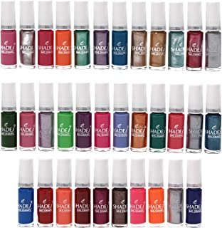 Lifestyle-You® (34 Pcs) Nail Polish Set. Assorted Colours of Regular and Metallic Nail Polishes (6 ml each Bottle)